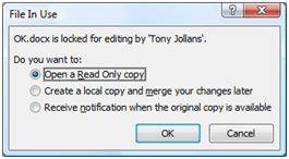words document locked prompt